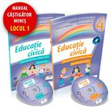 Educatie civica - Clasa 4 Sem. 1+2 - Manual + CD - Daniela Barbu, editura Cd Press