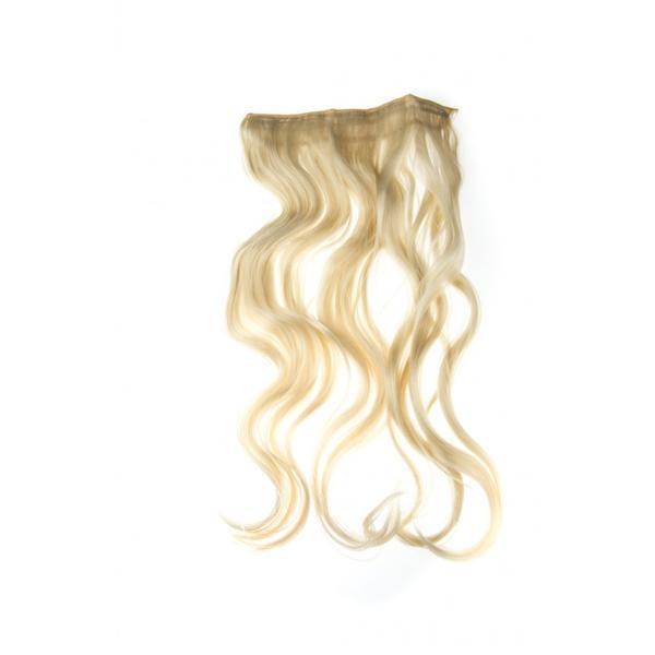 Extensii Clip-On ondulate, Blond platinat esteto.ro