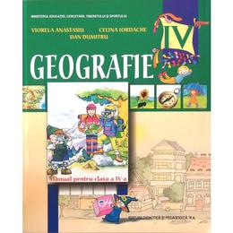 Geografie cls 4 - Viorela Anastasiu, Celina Iordache. Dan Dumitru, editura Didactica Si Pedagogica
