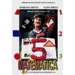 Matematica - Clasa 5 - Manual - Mariana Mitea, Alina Birtea, editura Didactica Si Pedagogica