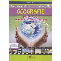 Geografie cls 9 caiet - Dumitru Rus, editura Cd Press