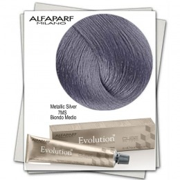 Vopsea Permanenta - Alfaparf Milano Evolution of the Color Metallic Silver nuanta 7MS Biondo Medio