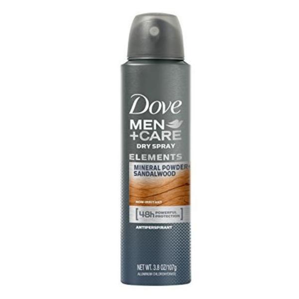 Deodorant antiperspirant spray, Dove, Men+Care, Elements Mineral Powder+Sandalwood, 48h, 150ml esteto.ro