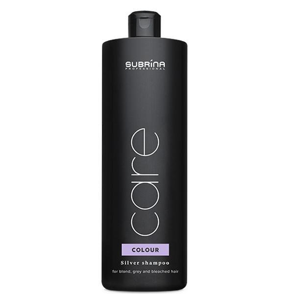 Sampon cu Reflexe Argintii pentru Par Blond, Grizonat sau Decolorat - Subrina Care Colour Silver Shampoo, 1000 ml