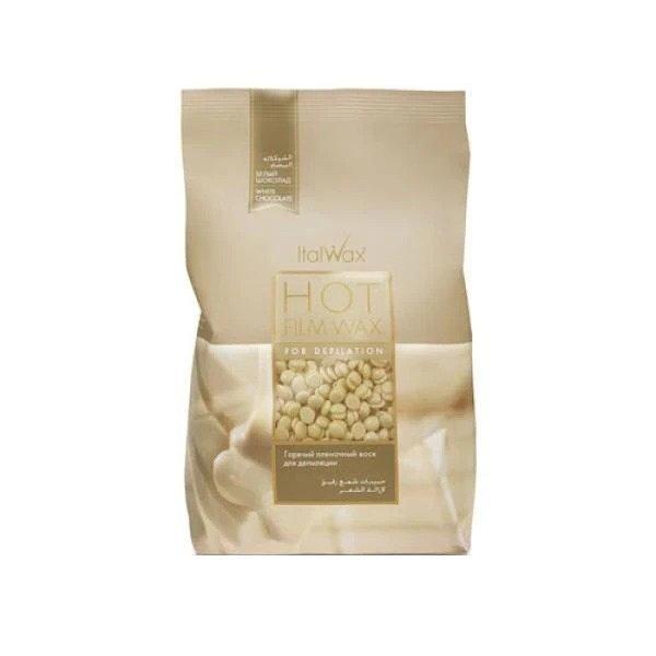 Ceara profesionala elastica granule ItalWax-Ciocolata alba 1000gr esteto.ro