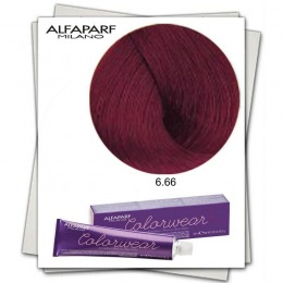 Vopsea Fara Amoniac - Alfaparf Milano Color Wear nuanta 6.66 Biondo Scuro Rosso Intenso