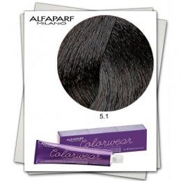 Vopsea Fara Amoniac - Alfaparf Milano Color Wear nuanta 5.1 Castano Chiaro Cenere