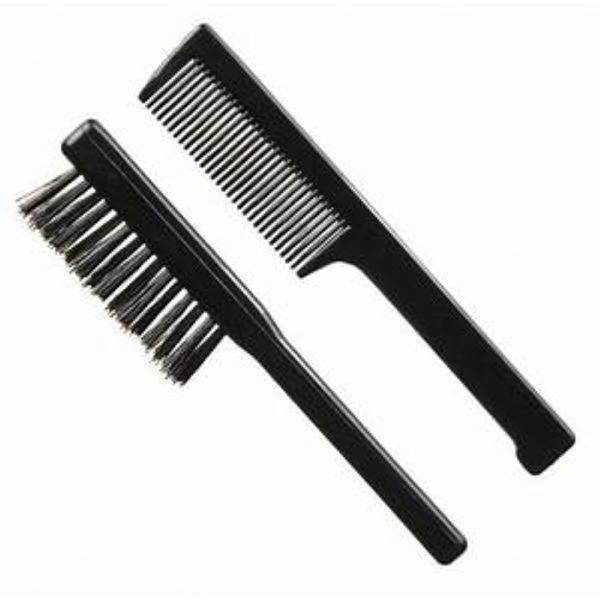 Set barba Guenzani 957 Periuta + Pieptene buzunar de culoare neagra esteto.ro