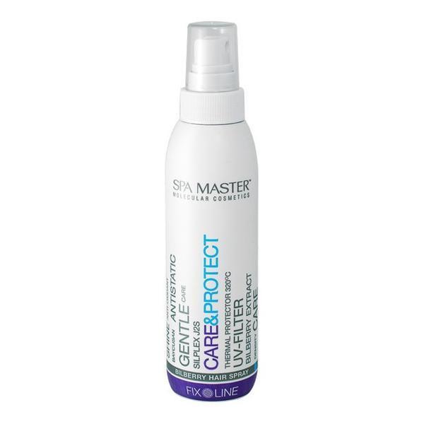 Spray pentru protectia parului la temperaturi de pana la 320 °C cu afine, ulei de ricin si Baycusan® Spa Master SM124, 200ml esteto.ro