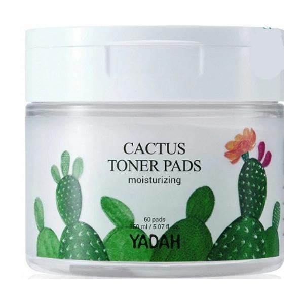 Dischete Umede cu Toner Facial cu Extract de Cactus Yadah, 60 buc