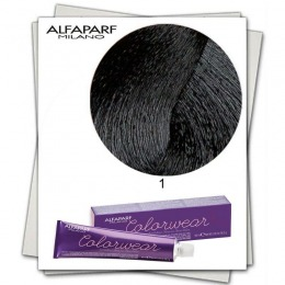 Vopsea Fara Amoniac - Alfaparf Milano Color Wear nuanta 1 Nero