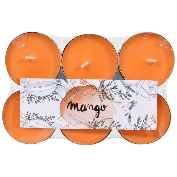 Set de 12 lumanari pastila cu aroma de mango esteto.ro