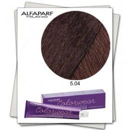 Vopsea Fara Amoniac - Alfaparf Milano Color Wear nuanta 5.04 Castano Chiaro Leggermente Rame