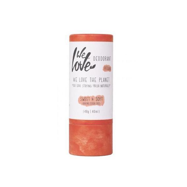 Deodorant natural stick Sweet & Soft pentru piele sensibila We love the planet 48g