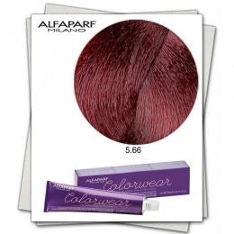 Vopsea Fara Amoniac - Alfaparf Milano Color Wear nuanta 5.66 Castano Chiaro Rosso Intenso