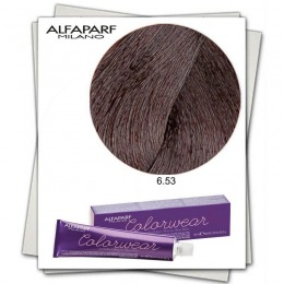 Vopsea Fara Amoniac - Alfaparf Milano Color Wear nuanta 6.53 Biondo Scuro Mogano Dorato