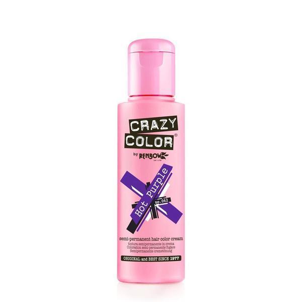 Vopsea semi-permanenta Crazy Color Hot Purple - no.62, 100 ml esteto.ro