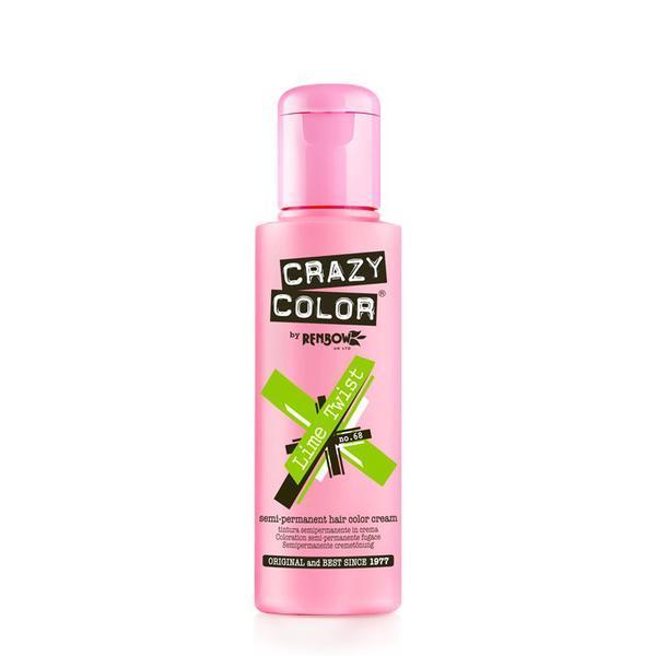 Vopsea semi-permanenta Crazy Color Lime Twist - no.68, 100 ml esteto.ro