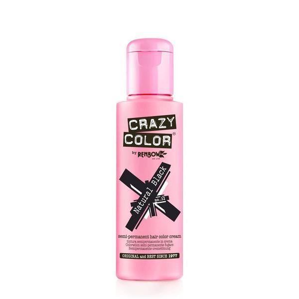Vopsea semi-permanenta Crazy Color Natural Black - no.32, 100 ml esteto.ro