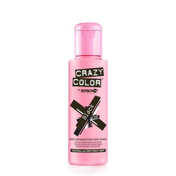Vopsea semi-permanenta Crazy Color Black - no.30, 100 ml esteto.ro