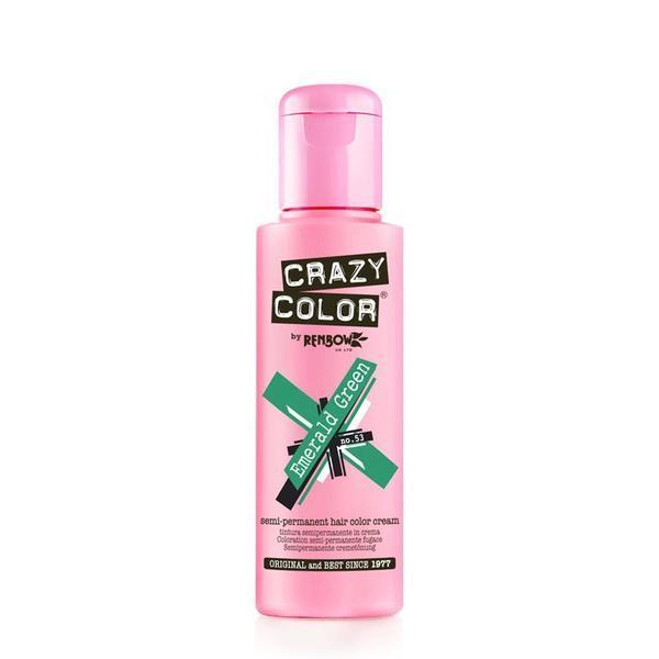Vopsea semi-permanenta Crazy Color Emerald Green - no.53, 100 ml esteto.ro