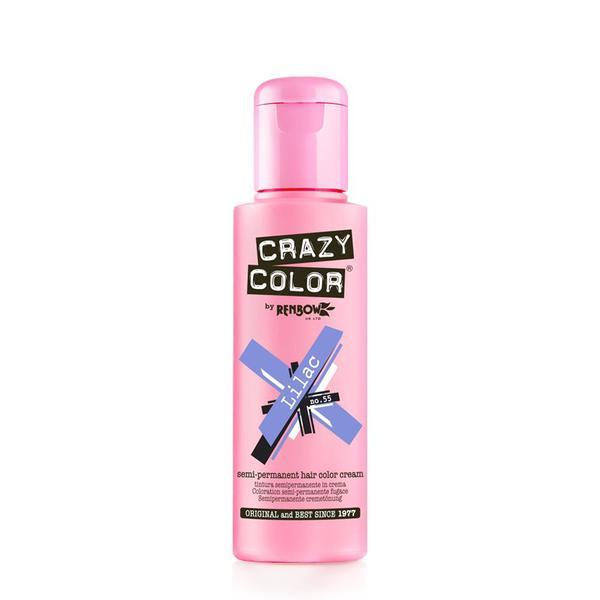 Vopsea semi-permanenta Crazy Color Lilac - no.55, 100 ml esteto.ro