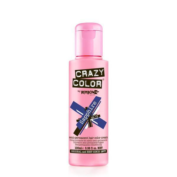 Vopsea semi-permanenta Crazy Color Sapphire - no.72, 100 ml esteto.ro