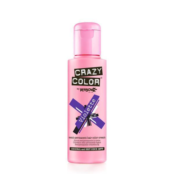 Vopsea semi-permanenta Crazy Color Violette - no.43, 100 ml esteto.ro