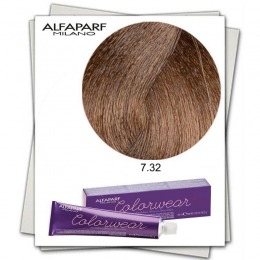 Vopsea Fara Amoniac - Alfaparf Milano Color Wear nuanta 7.32 Biondo Medio Dorato Irise
