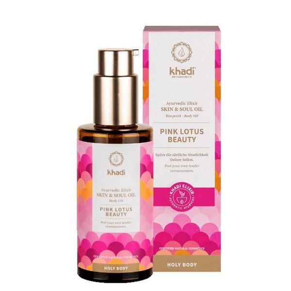 Ulei Ayurvedic Elixir Lotus Roz Skin & Soul Khadi, 100 ml