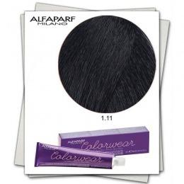 Vopsea Fara Amoniac - Alfaparf Milano Color Wear nuanta 1.11 Nero Blu
