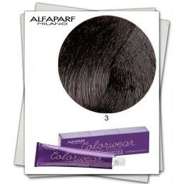 Vopsea Fara Amoniac - Alfaparf Milano Color Wear nuanta 3 Castano Scuro