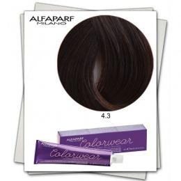 Vopsea Fara Amoniac - Alfaparf Milano Color Wear nuanta 4.3 Castano Medio Dorato