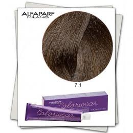 Vopsea Fara Amoniac - Alfaparf Milano Color Wear nuanta 7.1 Biondo Medio Cenere