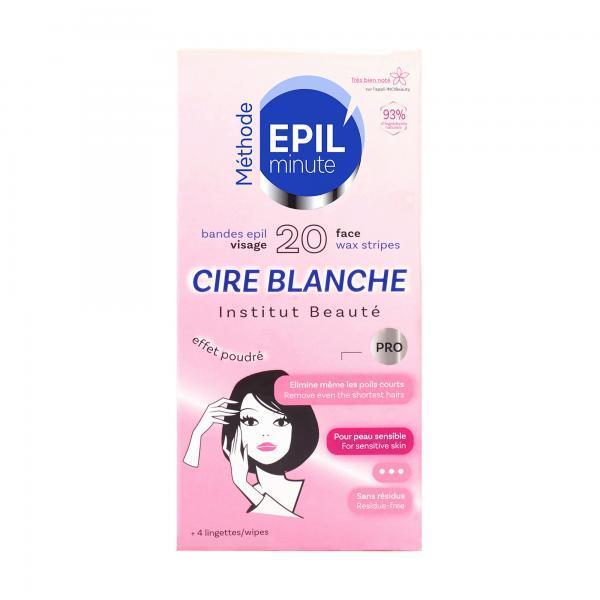 Benzi epilatoare pentru fata EPIL minute, 20 buc. + 4 servetele esteto.ro
