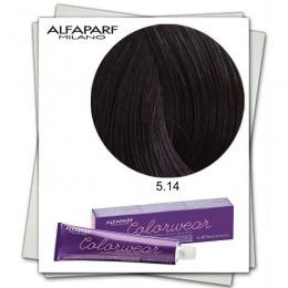 Vopsea Fara Amoniac - Alfaparf Milano Color Wear nuanta 5.14 Castano Chiaro Cenere Rame