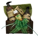 Set cadou cutie lemn, produse cosmetice cu ulei de argan, Argana, lotiune de corp 400 ml, gel de dus 200 ml, ulei fraicheur 60 ml, sapun 40 gr