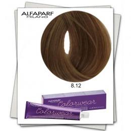 Vopsea Fara Amoniac - Alfaparf Milano Color Wear nuanta 8.12 Biondo Chiaro Cenere Irise