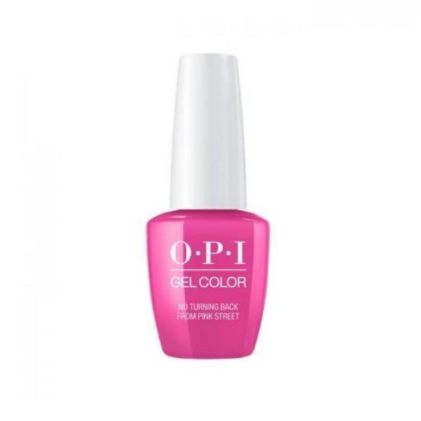 Lac de Unghii Semipermanent Opi Gel Color No Turning Back From Pink Street 15ml