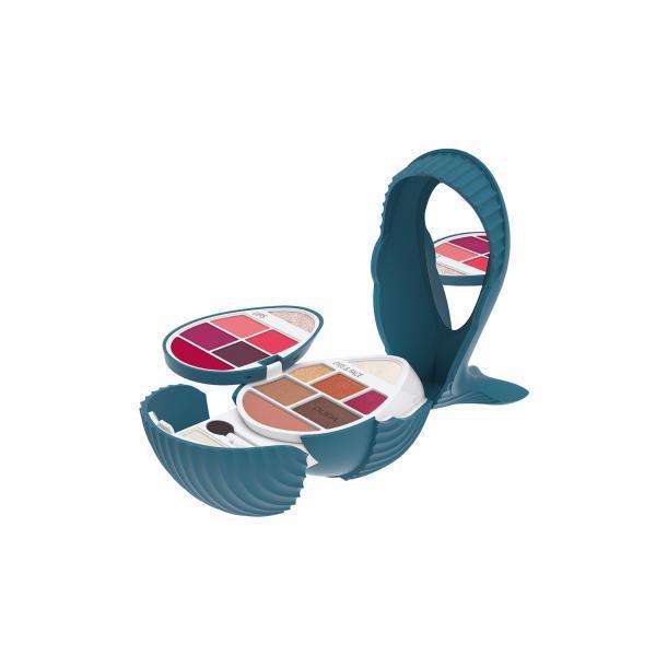 Paletă Machiaj Whale 3 (Bleu-002) pentru Ochi si Buze Pupa 5.6g