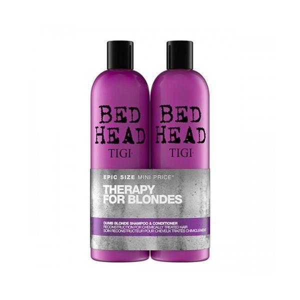 Set cadou Tigi Bed Head Dumb Blonde Duo Șampon si Balsam 2x750ml esteto.ro