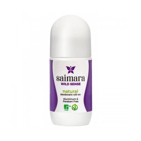 Deodorant Bio Wild Sense Roll-on Cu Bicarbonat De Sodiu Saimara 50ml esteto.ro