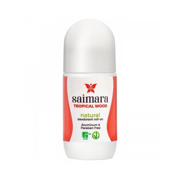Deodorant Bio Tropical Wood Roll-on cu Bicarbonat De Sodiu Saimara, 50ml esteto.ro