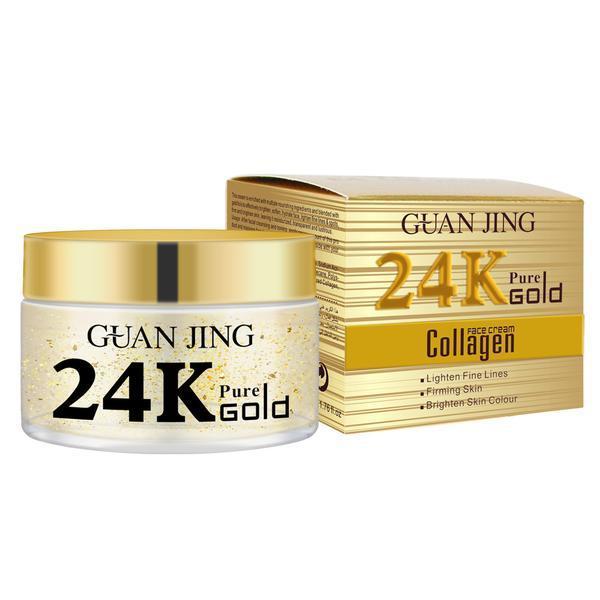 Crema de zi 24K Pure Gold Collagen Face Cream Guanjing, 50g