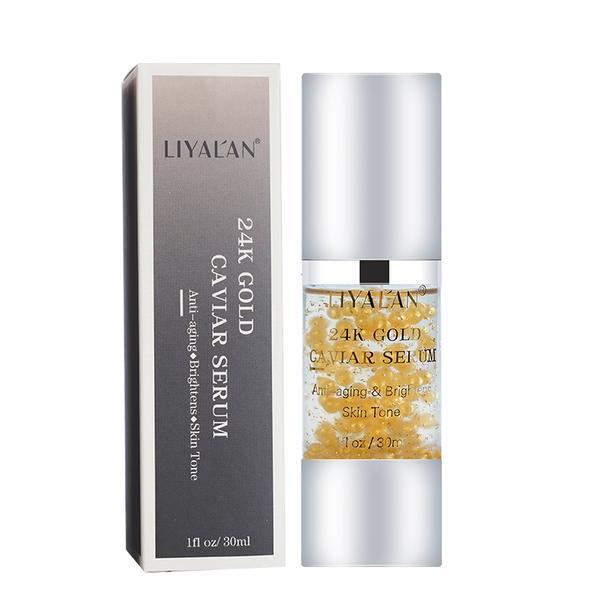 Ser facial cu nano-particule de Aur 24k & Caviar, LIYAL'AN, 30 ml