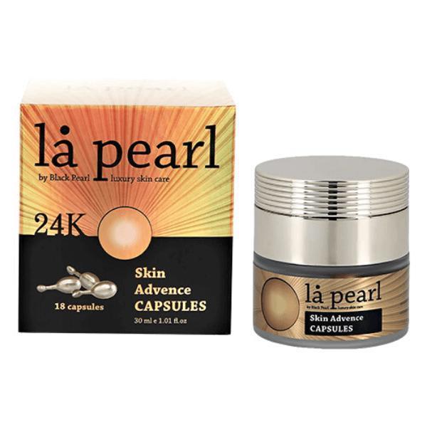 Capsule cu Ser pentru Ten, Skin Advence 24K, La Pearl by Black Pearl, 180 2 Activat, 30 ml esteto.ro