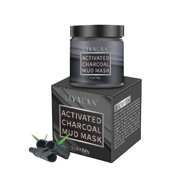 Masca faciala de noroi cu carbune activ, LIYAL'AN, Ideala pentru persoanele cu piele grasa si cu tendinte acneice, 150 g esteto.ro