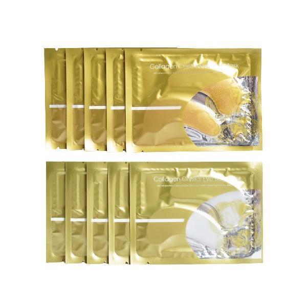Set Masca de fata Collagen Eye Bag Mask - 10 bucati, LIYAL'AN, Coenzima Q10, Glicerina, Ulei de ricin, Vitamin A si C, 6 g/buc esteto.ro