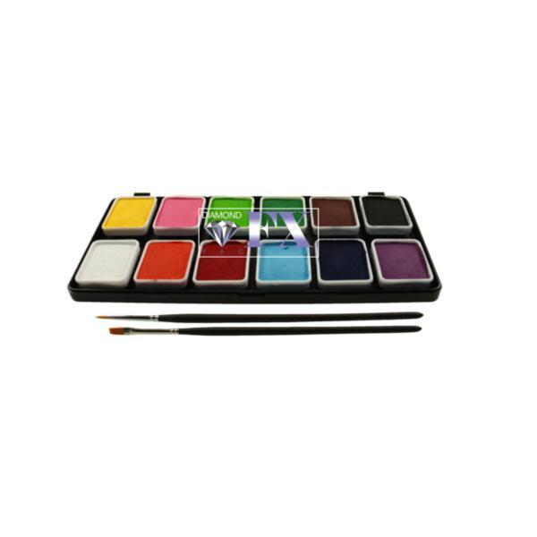 Paletă 12 Culori Mate Diamond FX, 12×6 g