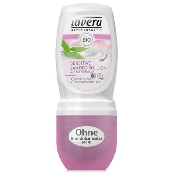 Deodorant roll-on cu lapte de orez, Sensitive 24h Lavera, 50 ml esteto.ro